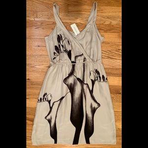 Banana Republic silk lily print dress NWT